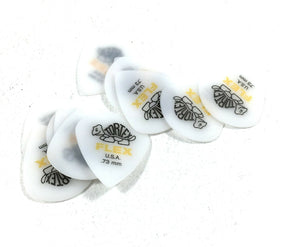 Dunlop Guitar Picks Flex Jazz 12 Pack .73mm MM Light (468P.73).