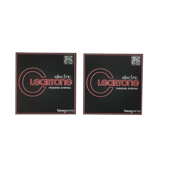 Cleartone Guitar Strings 2 Pack Electric Monster Light Top Heavy Bottom 10-52.