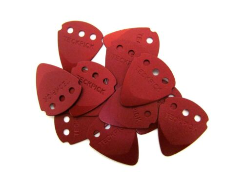 Dunlop Guitar Picks  12 Pack  Techpick (Tech Pick) Aluminum Metal  Red.