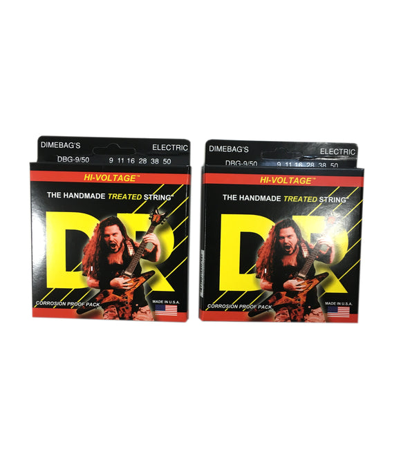 DR Guitar Strings 2-Pack  Electric Dimebag Hi-Voltage 09-50.