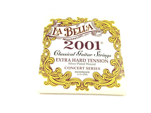 La Bella Guitar Strings  Extra Hard Tension  Silver Plated  Classical  2001.