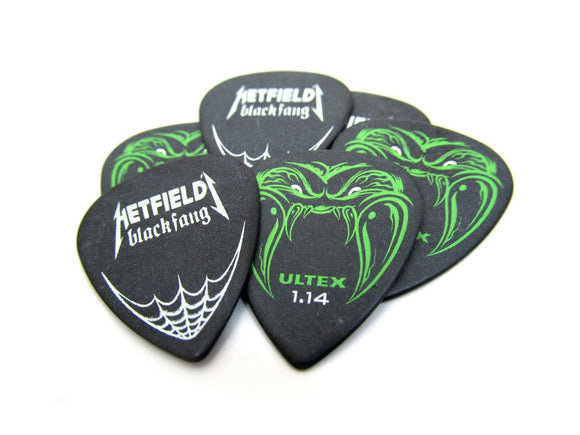 Dunlop Guitar Picks  James Hetfield (Metallica) Black Fang 1.14mm  6 Picks