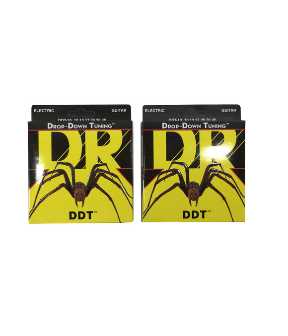 DR Guitar Strings 2 Pack Electric DDT Drop Down Tuning 10-52