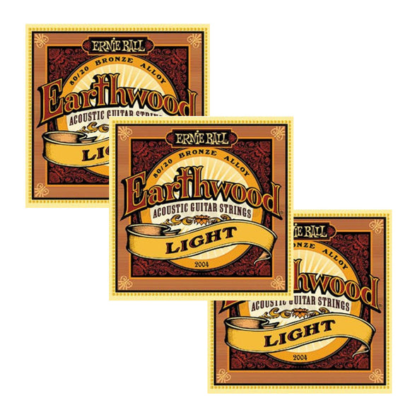 Ernie Ball Guitar Strings 3-Pack Acoustic Earthwood Light 11-52 2004