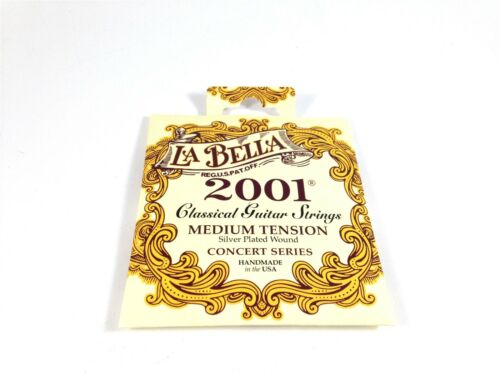 La Bella Guitar Strings  Concert Series Medium Tension Silver Wound  Classical
