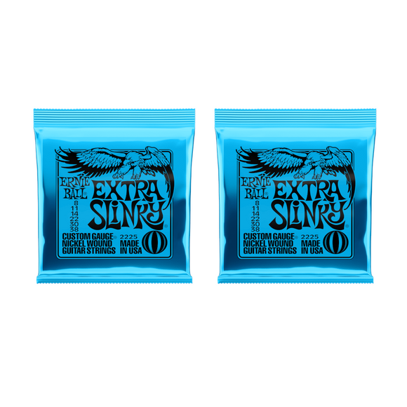 Ernie Ball Guitar Strings 2-Packs  Extra Slinky Electric  2225 8-38