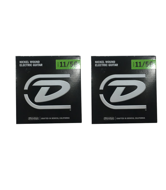Dunlop Guitar Strings - Electric - 2 Pack - 11-50 - Nickel Plated Steel