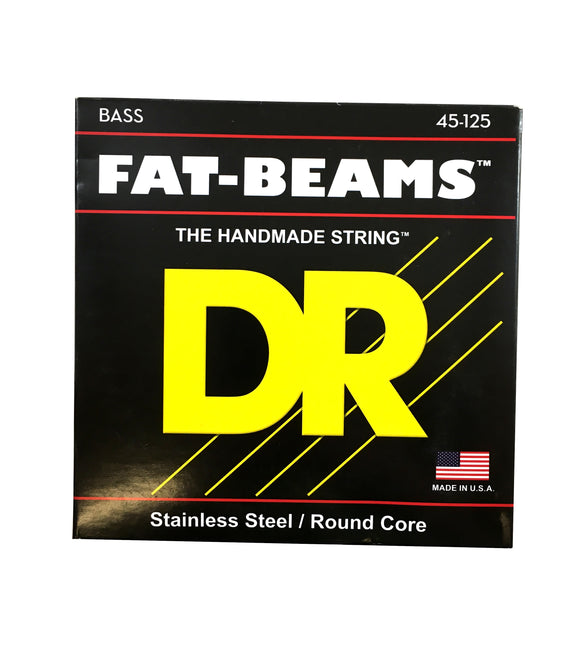 DR Bass Guitar Strings 5-String Fat Beams 45-125 FB5-45 Compression Wound.