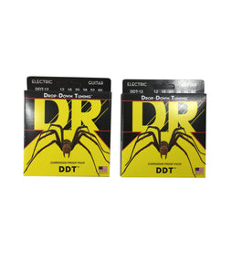 DR Guitar Strings 2 Pack Electric DDT Drop Down Tuning 12-60 Extra Extra Heavy.