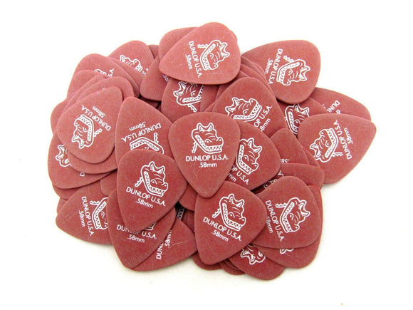 Dunlop Guitar Picks  72 Pack  Gator Grip  .58mm  417R.58 thin