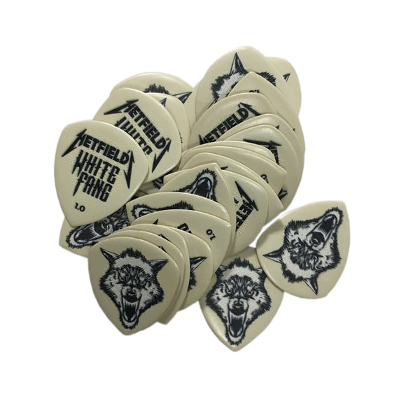 Dunlop Guitar PIcks White Fang 24 Picks 1.0mm James Hetfield