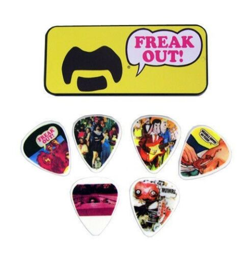 Dunlop Frank Zappa Collectible Picks and Tin - Yellow Freak Out - Medium