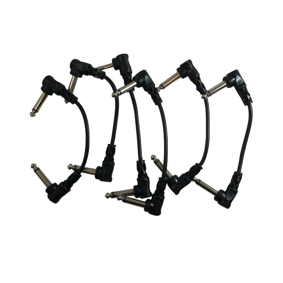 Hosa Patch Cables 1/2 inch (~152mm) 6 Pack 1/4