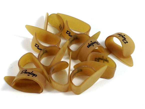 Dunlop Thumb Picks  12 Pack  Ultex Gold  Medium  Guitar and Banjo