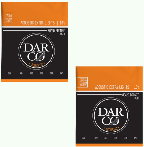 Darco Martin Guitar Strings 2-Pack Acoustic Extra Light 10-54.
