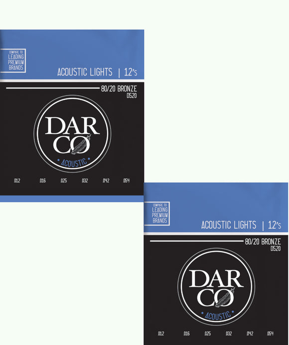 Darco Martin 2-Pack Guitar Strings Acoustic Light 12-54