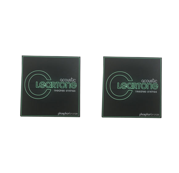 Cleartone Guitar Strings 2-Pack Acoustic Phosphor Bronze Bluegrass 12-56 Treated.