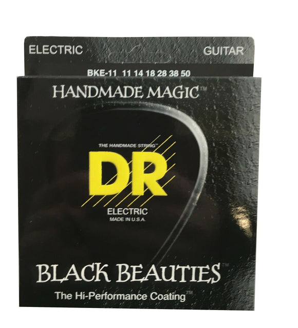 DR Guitar Strings Electric K3 Black Beauties High Performance Coated 11-50.
