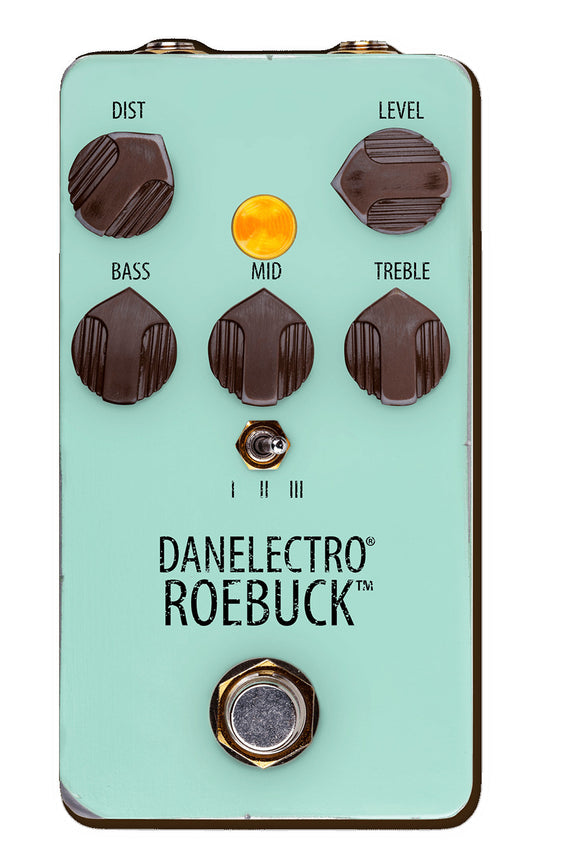 Danelectro Guitar Effect Roebuck Distortion True Bypass Soft Switch