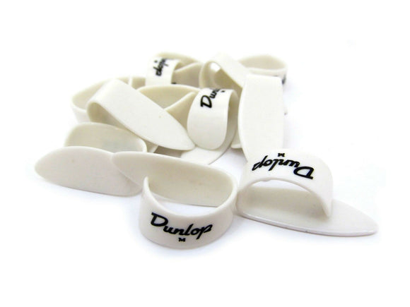 Dunlop Thumb Picks  12 Pack  White  Medium  (9002R) Guitar banjo
