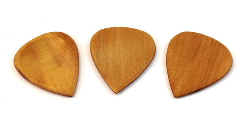 Clayton Guitar Picks  Exotic Series  Blond Wood  3 Pack.