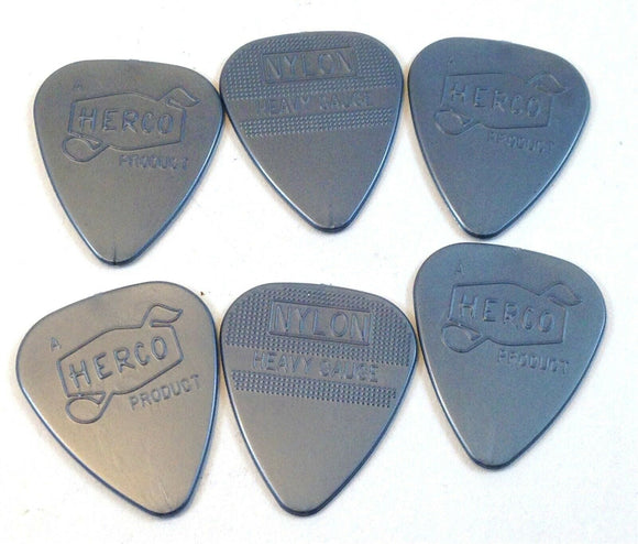 Herco Guitar Picks  Vintage 66  6 Pack  Heavy  HEV211P