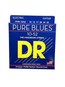 DR Guitar Strings Electric Pure Blues Vintage Pure Nickel 10-52.