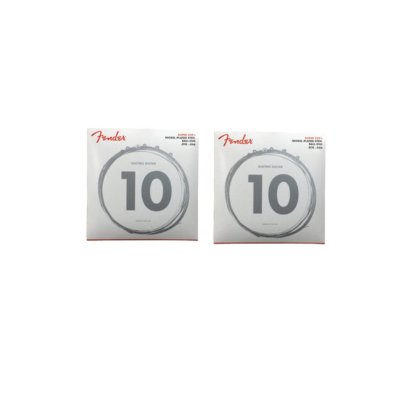 Fender Guitar Strings 2-Packs  Electric  Super 250  Nickel Plated Steel 10-46