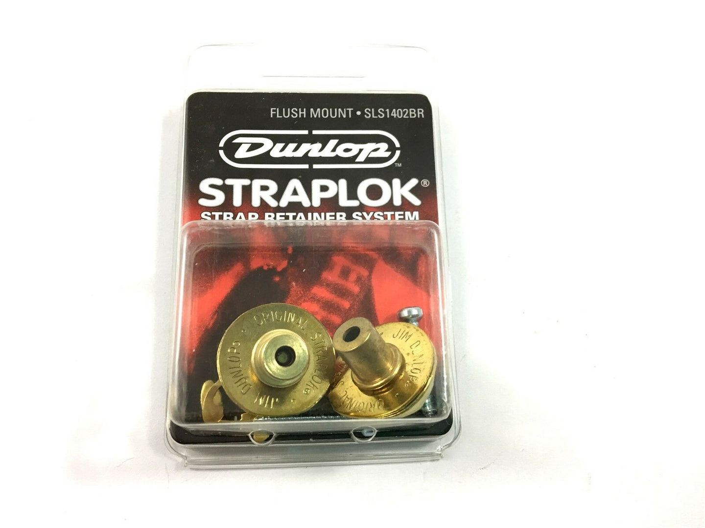 Dunlop Strap Locks - Guitar - Flush Mount Strap Retainer System Brass.