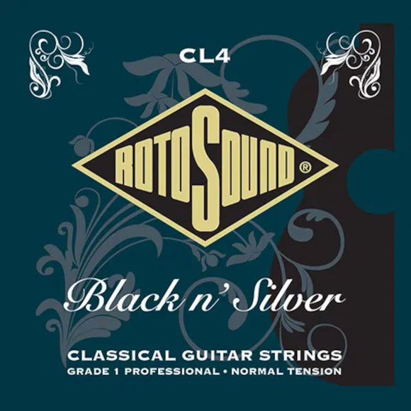 Rotosound Guitar Strings  Classical Black N Silver Normal Tension CL4.