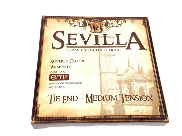 Sevilla Guitar Strings Classical Tie End Medium Tension EMP Protection.