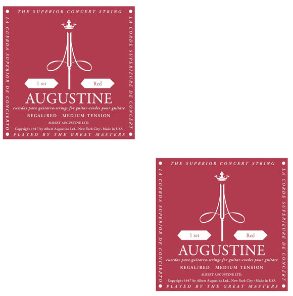 Augustine Guitar Strings 2-Packs Classical Regal Red Medium Tension 531A.