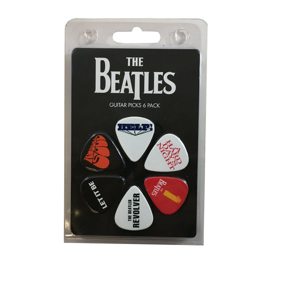 Beatles Guitar Picks 6 Picks Albums One Rubber Soul Revolver Set 2.