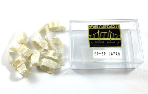 Golden Gate Picks Thumb Picks GGP-5   Guitar or Banjo  Medium  White.