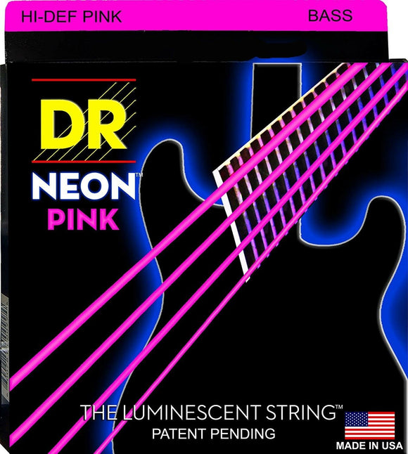 DR Bass Strings Neon Pink NPB-45 45-105 Medium