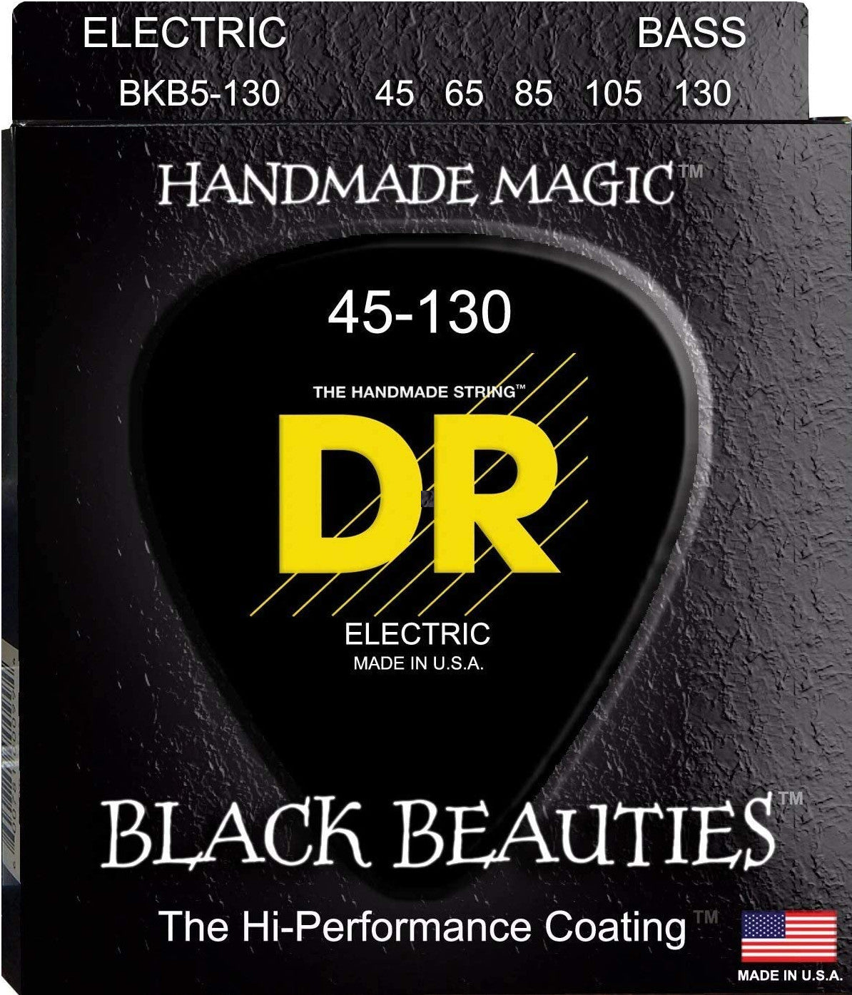 DR Bass Strings 5-Strings Black Beauties Performance Coating BKB5-130 45-130