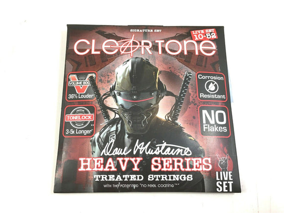 Cleartone Guitar Strings Electric Dave Mustaine Signature Custom Live Set 10-52.