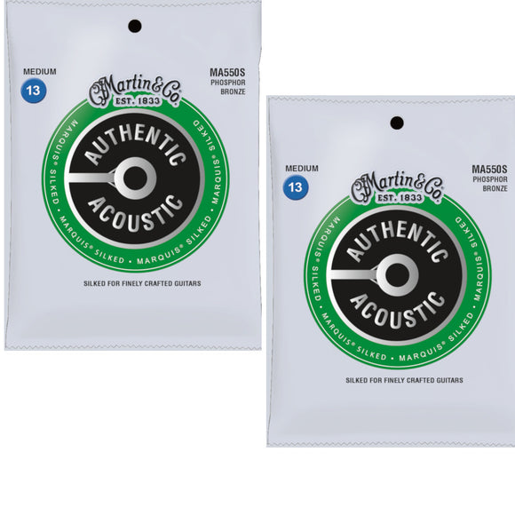 Martin Guitar Strings 2-Pack Acoustic Extra Light Phosphor Bronze Marquis Silked
