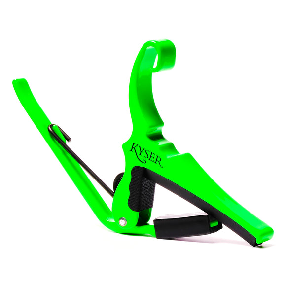 Kyser Guitar Capo - Quick Change - 6-String Acoustic Neon Green.