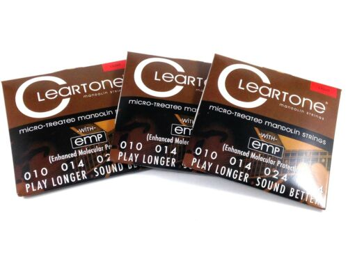 Cleartone Mandolin Strings  3 Pack EMP Coated  Light  .010-.034.