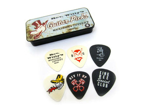 Reverend Willy's Guitar Picks  Billy Gibbons  Pick Tin  6 picks Medium Dunlop