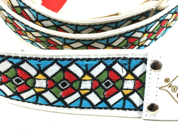 Ace Guitar Strap  Vintage Style  Stained Glass Design  D'Andrea