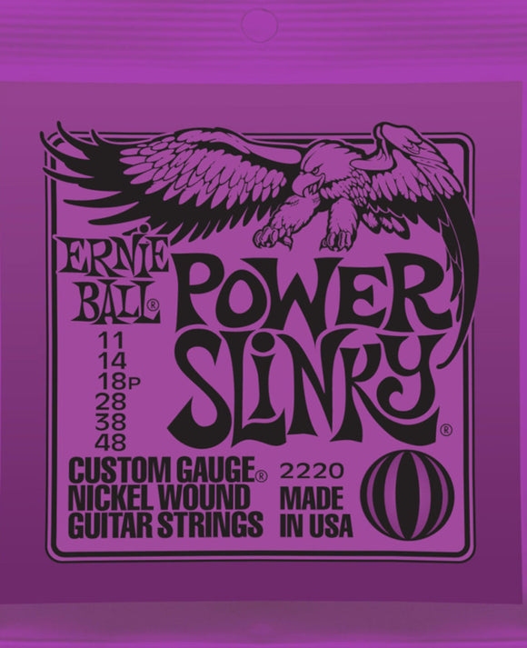 Ernie Ball Guitar Strings Power Slinky Electric 11-48 Nickel Wound.