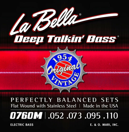 La Bella Bass Strings Deep Talkin' Bass Original Vintage Flat Wound 1954 Motown.