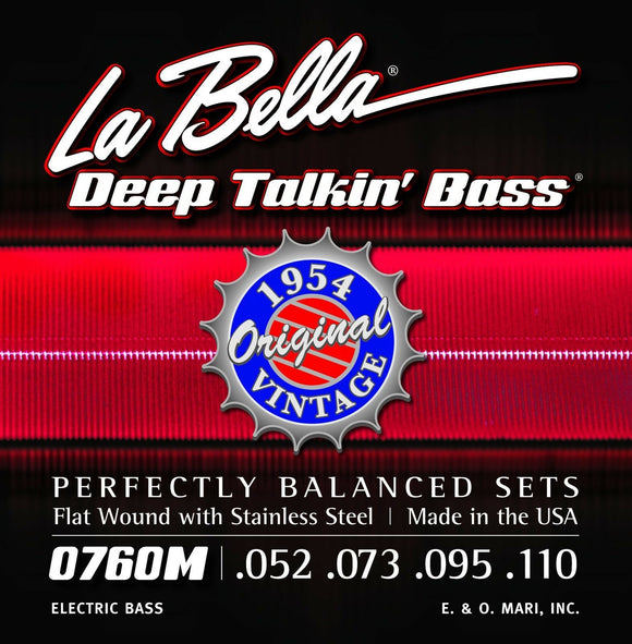 La Bella Bass Strings Deep Talkin' Bass Original Vintage Flat Wound 1954 Motown