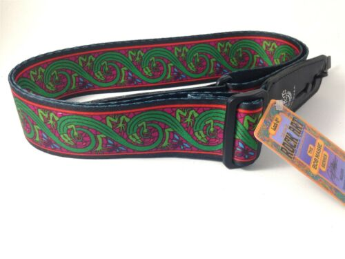 LOCK-IT Guitar Strap  Bob Masse Series - Green Lizards Patented Strap Locking