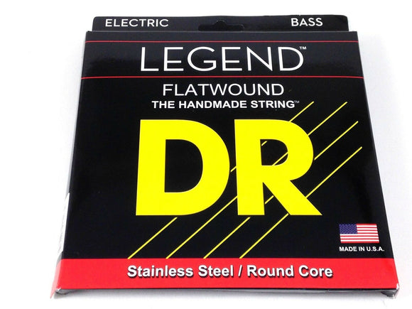 DR Bass Strings Flat Wound Stainless Steel 45-105.