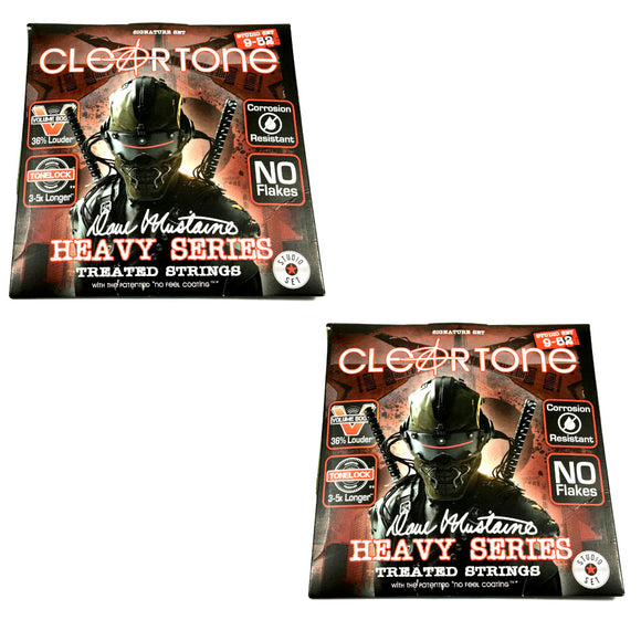 Cleartone Guitar Strings 2-Sets Electric Dave Mustaine Signature 09-52.