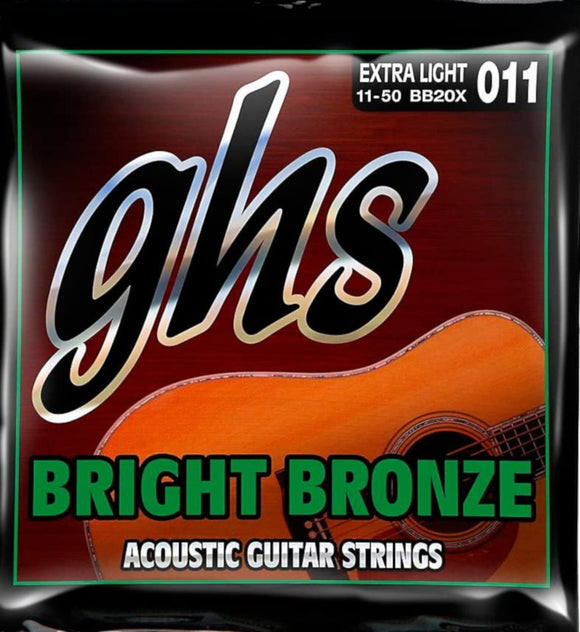 GHS Guitar Strings Acoustic Bright Bronze Extra Light 11-50