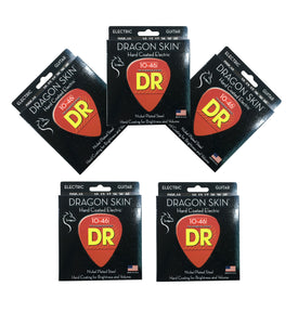 DR Guitar Strings 5-Pack Electric Dragon Skins 10-46 Medium